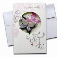 Buy cheap Greeting Card, Customized Styles are Accepted, OEM Orders are Welcome from wholesalers
