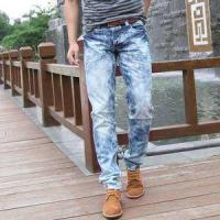 Buy cheap 2018 Hot sale men's distressed ripped jeans ripped skinny men jeans from wholesalers