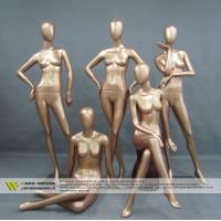 Buy cheap Cheap full body fiberglass golden female mannequin for window display from wholesalers