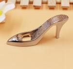 Buy cheap 3D chrome plating high heels slipper shape beerl bottle opener, Innovative wedding favor from wholesalers