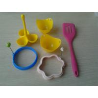 Buy cheap 6pcs Eco Recycled Silicone Baking Set , Sillicon Kitchen Egg Cooking Tool from wholesalers