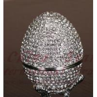 Buy cheap diamond egg jewely box,faberge egg from wholesalers