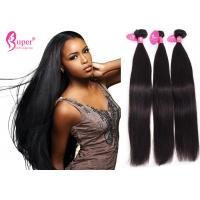 Buy cheap Black Real Human Hair Extensions Swiss Lace Frontal 13 * 4 Pre Plucked Straight Weave from wholesalers
