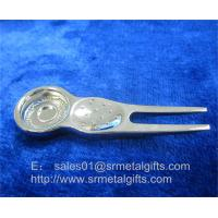 Buy cheap Metal golf repair pitchfork tools with magnet, magnetic ball marker golf divot tool, from wholesalers
