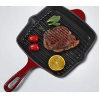 Buy cheap cast iron enamel grill pan cookware from wholesalers