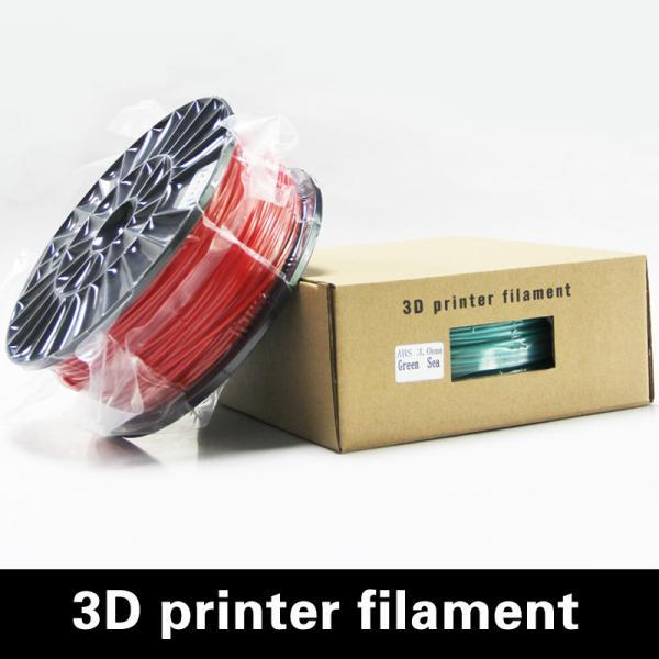 Buy cheap Luminous Green 1.75MM Plastic Filament For 3D Printer , Grade A from wholesalers