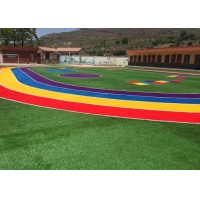 Buy cheap Environmentally Friendly Rainbow Grass Coloured Astroturf product