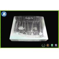 Buy cheap Cosmetic Clear Plastic Folding Cartons , Biodegradable PVC Packaging Boxes product