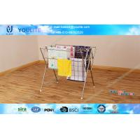 Buy cheap Stainless Steel Bathroom Floor Standing Towel Rack Foldable Customized from wholesalers