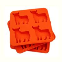 Buy cheap Custom FDA 4 cavity Silicone Cake Moulds , silicone chocolate molds product