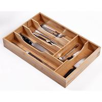 Buy cheap Stackable Bamboo Cutlery Tray Drawer Organizers With Absorb Less Liquid from wholesalers