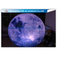 Buy cheap Giant Inflatable Lighting Decoration Ground Moon Ball With LED Lights product