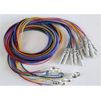 Buy cheap Colorful Eeg Electrode Cap With Colorful Eeg Lead Wires 10pcs / Set from wholesalers