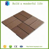Buy cheap HEYA plastic wood composite deck tile wpc board manufacturers from wholesalers