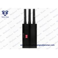 Buy cheap Portable Handheld GPS Jammer 6 Bands Radius 1 - 15 M With Black Color product