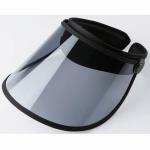 Buy cheap Outdoor Transparent Sun Visor Caps , UV Protection Navy Blue Plastic Sun Visor Hats from wholesalers