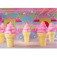 Buy cheap Commercial Christmas Decorations For Windows Ideas Fiberglass Ice Cream Cone In H160cm from wholesalers