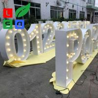 Buy cheap Wedding Using LED Marquee Letter Vintage Light Bulb Letter Sign from wholesalers