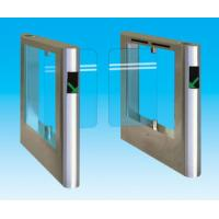 Buy cheap 304 / 316 stainless steel security subway automatic swing tempered glass barriers system from wholesalers