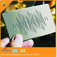 Buy cheap metal Business Cards Stainless Steel Business Cards /metal VIP membership card from wholesalers