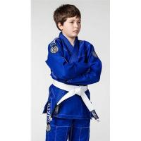Buy cheap Breathable Kids Blue jiu jitsu uniform / Martial Arts Clothes with White Belt from wholesalers