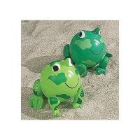 Buy cheap PVC Green Frog Beach Toys Inflatable Animal Beach Balls 10 Overall Size Measures 14 from wholesalers