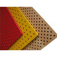 Buy cheap Perforated Wood Acoustic Panels Gypsum Board Mineral Fiber Acoustical Ceiling Panel from wholesalers