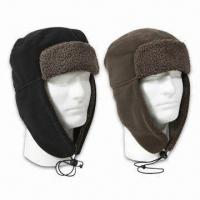 Buy cheap Cold Weather Polar Fleece Flyer Hats with Earflap, Lightweight from wholesalers