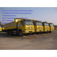 Buy cheap 50T 20M3 371 HP 12 Wheels Yellow Heavy Duty Dump Truck low fuel consumption Q345 Carbor steel Bucket from wholesalers