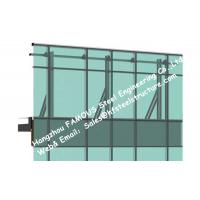 Curtain Wall Spandrel Panel : Monolithic glass façade curtain wall unitized and