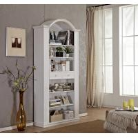 Tall Narrow Wooden Book Case With Sliding Drawer / Vaulted Roof / Adjustable Shelves
