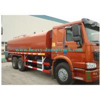 Buy cheap Howo water tank truck 20cbm  tank capacity with engine 300hp EURO III red color from wholesalers