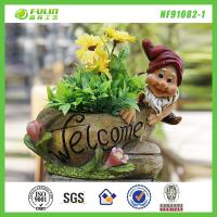 Buy cheap Cheap Garden Resin Gnome Flower Planter from wholesalers