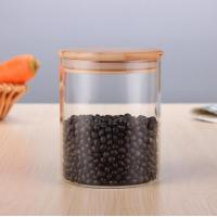 Buy cheap storage glass jar,heat-resistant glass jar, borosilicate glass jar with bamboo lid from wholesalers