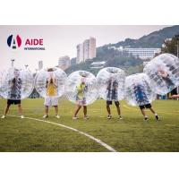 Buy cheap Costume Bubble Suit Inflatable Ball Game Soccer , Giant Inflatable Ball To Ride In from wholesalers