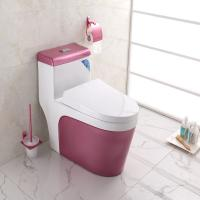 Buy cheap Complete Toilet Set Pink Color Ground Drainage patterns from wholesalers
