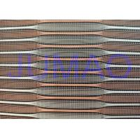Buy cheap Copper And Silver Color Metal Glass Laminated Glass Mesh Fabric product