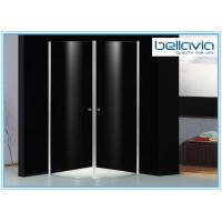 China 6 mm Clear Tempered Glass Frameless Shower Enclosure Pivot Door 6550-1 on sale