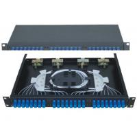 Buy cheap High Density 24 Fiber Optic Patch Panel Drawer Type Fiber Terminal Box With ST Adapter from wholesalers