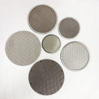 Buy cheap Custom Wire Mesh Filter Disc Framed / Leaf / Perforated / Pleated / Sintered Available from wholesalers