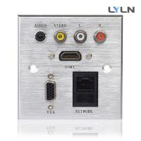 Buy cheap Wall Mounted AV Wall Plate , Hdmi Vga Audio Faceplate For Training Room from wholesalers