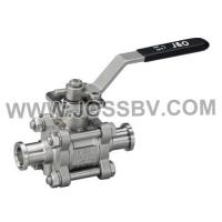 Buy cheap Three-Piece Sanitary Ball Valve Tri-Clamp With High Cycle Direct Mount from wholesalers