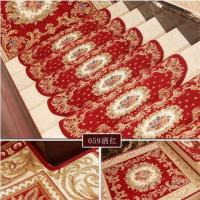 Buy cheap Red Traditional PVC Carpet Flooring , Oval Shape Stair Tread Rugs from wholesalers