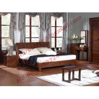 Buy cheap Antique Solid Wood Bed in Wooden Bedroom Furniture sets product
