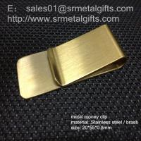 Buy cheap Solid brass money clip with enamel logo, custom brass money clip wallet from wholesalers
