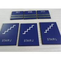 Buy cheap Thermoforming ADA Stair Signs Round Grade II Braille 1/32 Raised Text / Graphic from wholesalers