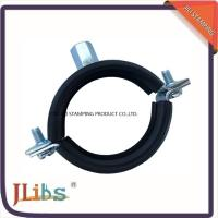 Buy cheap High Quality Cast Iron pipe clamp in Eurpe market welding  M8+10 nut with Rubber product