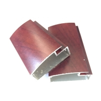 Buy cheap Extruded Aluminum For Modern Furniture Designs Wood Grain Kitchen Cabinet Door Aluminum Profile from wholesalers