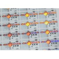 Buy cheap Security Seal Custom Overlay Hot Stamping Labels / Laser Hologram Security Labels from wholesalers