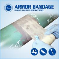 Buy cheap Easy to operate fast pipe repair armour tape and cable connection armored cast tape from wholesalers